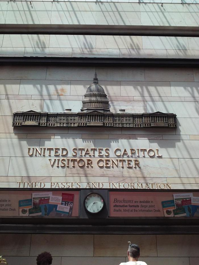 United States Capitol Visitor Center Sign